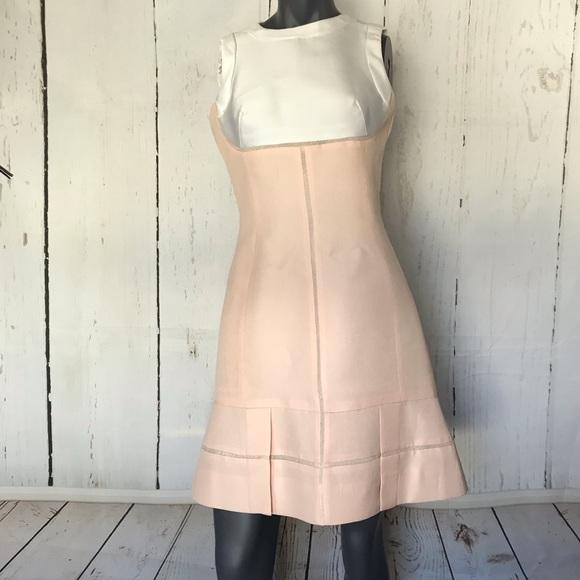 J Mendel Blush Cream Sleeveless Dress